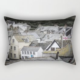 Port Isaac Rooftops Rectangular Pillow