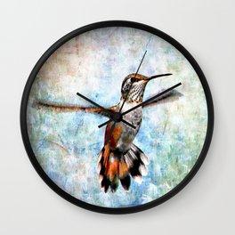 Rufus Hummingbird Wall Clock