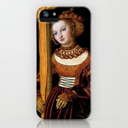 "Lucas Cranach the Elder ""Saint Helena with the Cross"" iPhone Case"