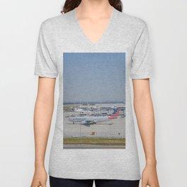 Flight AA717 MUC-PHL Unisex V-Neck