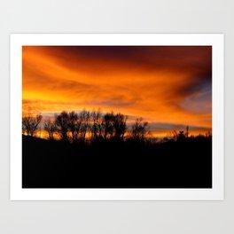 Sky on Fire Art Print