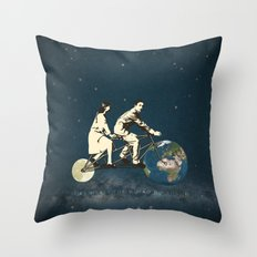 Love Makes The World Go Round Throw Pillow