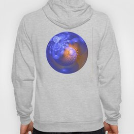 Out of the blue, fractal 3-D abstract Hoody