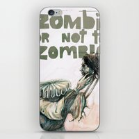 shakespeare iPhone & iPod Skins featuring Zombie + Shakespeare by Stephane Lauzon