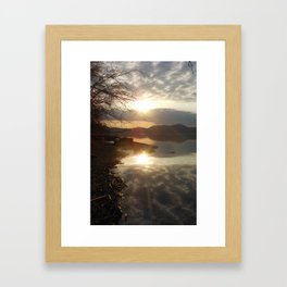 reflections of a perfect world Framed Art Print