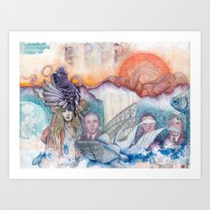 Sunset Gala Art Print