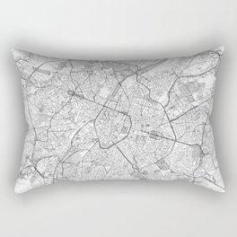 Brussels Map Line Rectangular Pillow