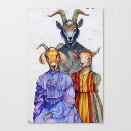 the van Goatsians Canvas Print