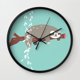 Sloth card - just 5 more minutes Wall Clock
