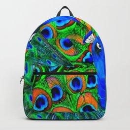 BLUE PEACOCKS PATTERN DESIGN Backpack