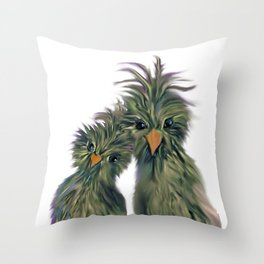 DODO LOVE BIRDS 2 Throw Pillow