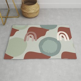 Abstract Desert Southwest Series - Sage Arches Rug