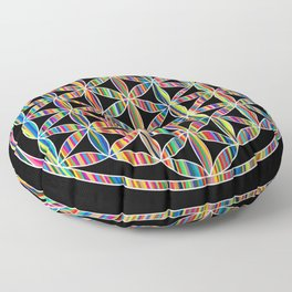 Flower of Life Colored | Kids Room | Delight Floor Pillow