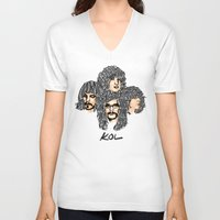 leon V-neck T-shirts featuring Kings of leon by K▽nchʁLϟ