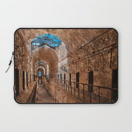 Prison Corridor - Sepia Blues Laptop Sleeve