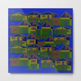 Houses pattern7 Metal Print