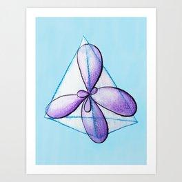 Organic Chemistry Hybridized Atomic Orbitals Art Print