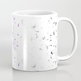 Dandelion Seeds Asexual Pride (white background) Coffee Mug