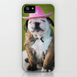 Cowgirl Puppy iPhone Case