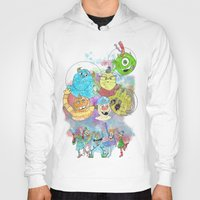 pixar Hoodies featuring Disney Pixar Play Parade - Monsters Inc Unit by Joey Noble