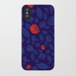 Briar Rose Navy iPhone Case