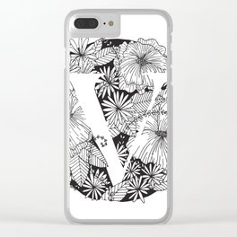 Flower V Clear iPhone Case