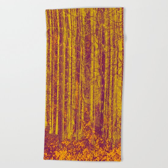 In the middle of the forest Beach Towel