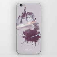 han solo iPhone & iPod Skins featuring Han Solo by Diego Rodriguez