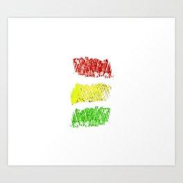 flag of bolivia 4 - Chalk version Art Print