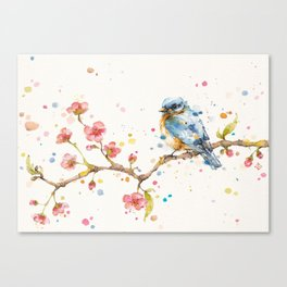 Little Journeys (BlueBird) Canvas Print