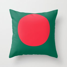 Flag of Bangladesh Throw Pillow