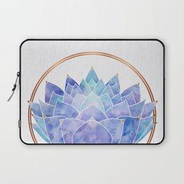Violet Zen Lotus Laptop Sleeve