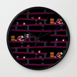 Donkey Kong Retro Arcade Gaming Design Wall Clock