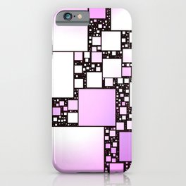 Pink and White Square Dancing iPhone Case