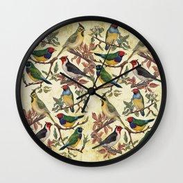 Vintage Birds Wall Clock