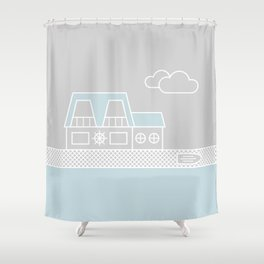 Lagoon House Shower Curtain