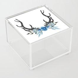 Floral Deer Antler Acrylic Box