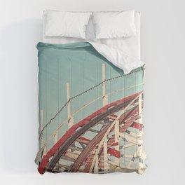 Coast - Vintage Santa Cruz Roller Coaster Comforters
