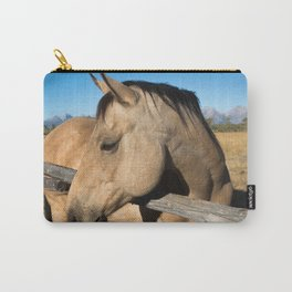 Shy - Horse Plays Coy in Western Wyoming Carry-All Pouch