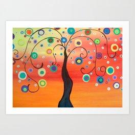 Fiesta Tree Art Print