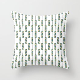 Tribal triangles Throw Pillow