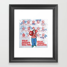 Character building v2 Framed Art Print