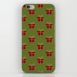 Christmas gifts - green and red iPhone Skin
