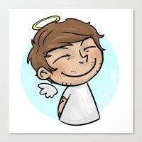 cyrilliart Canvas Prints featuring Emoji Angel: Louis by Cyrilliart