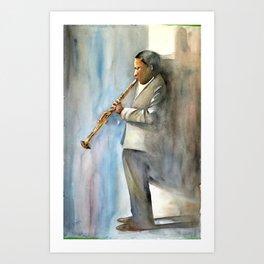 Musician Series I: Trane Art Print