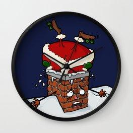 Santa Claustrophobia Wall Clock