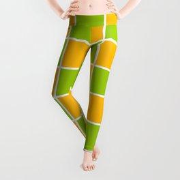 Lime Green & Golden Yellow Chex 1 Leggings