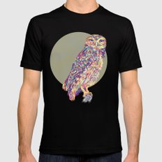 Owl  SMALL Mens Fitted Tee Black