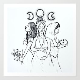 Maiden, Mother, Crone Art Print
