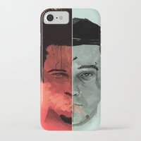 tyler durden iPhone & iPod Cases featuring Tyler Durden V. the Narrator by qualitypunk